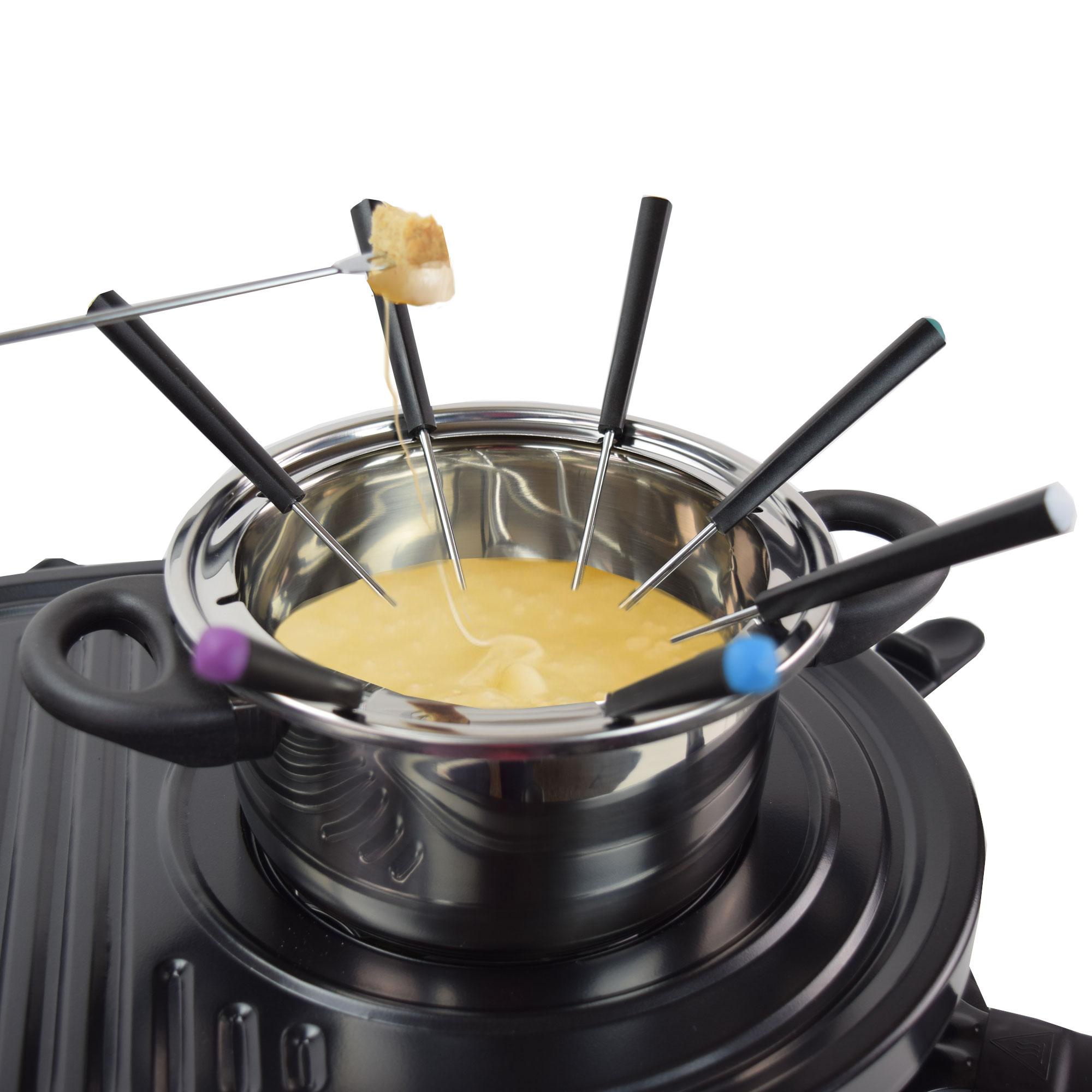 4 in 1 raclette grill heisser stein fondue f r 8 personen syntrox ebay. Black Bedroom Furniture Sets. Home Design Ideas