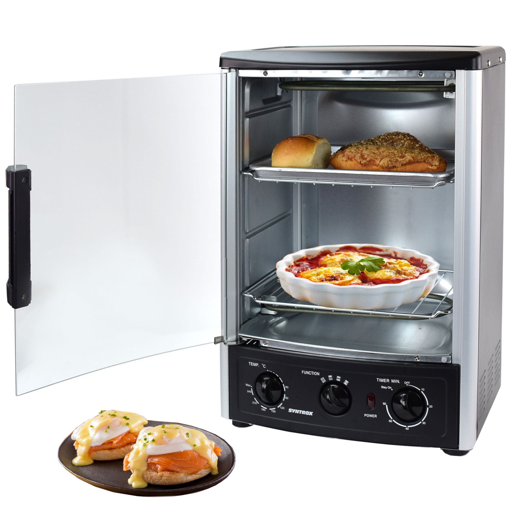 d nergrill rotisserie gyrosgrill h hnchengrill tischgrill 23 liter syntrox ebay. Black Bedroom Furniture Sets. Home Design Ideas