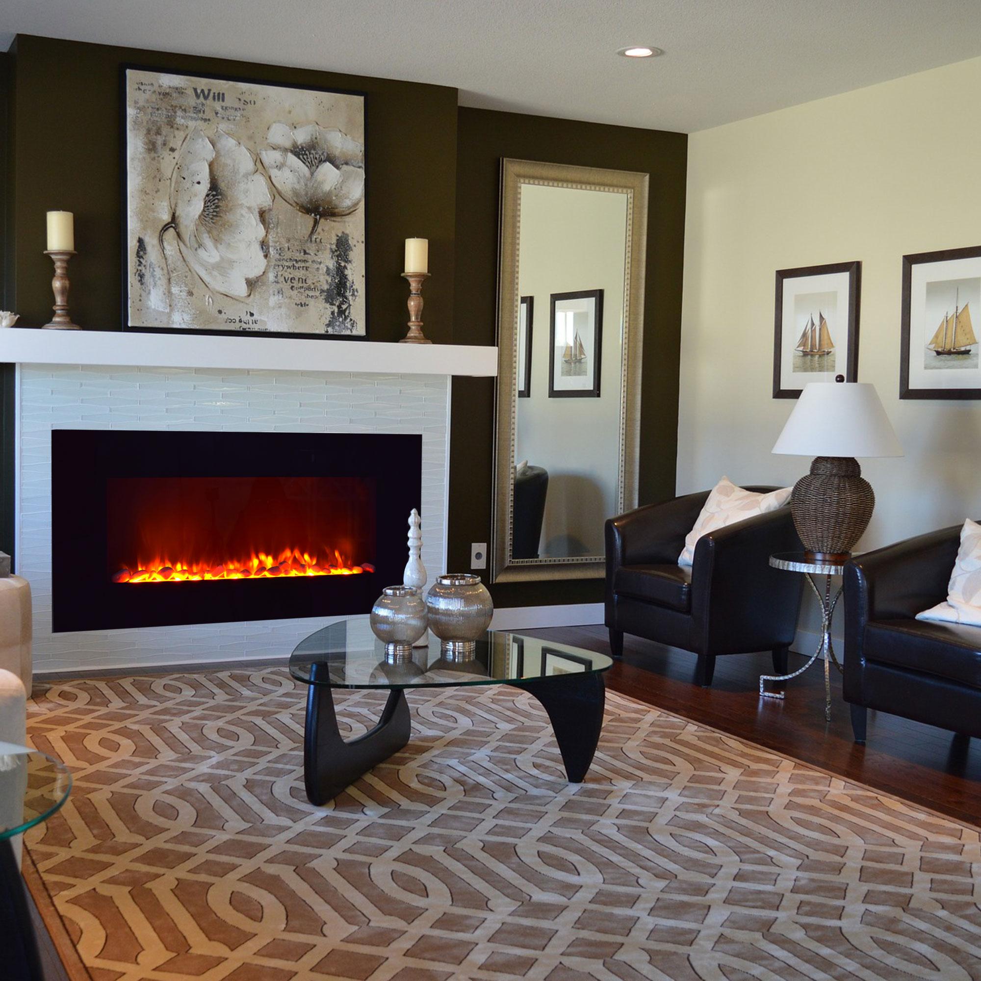 wandkamin mit fernbedienung elektrokamin schwarz nova syntrox ebay. Black Bedroom Furniture Sets. Home Design Ideas